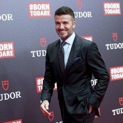 David Beckham en el evento de Tudor en Madrid
