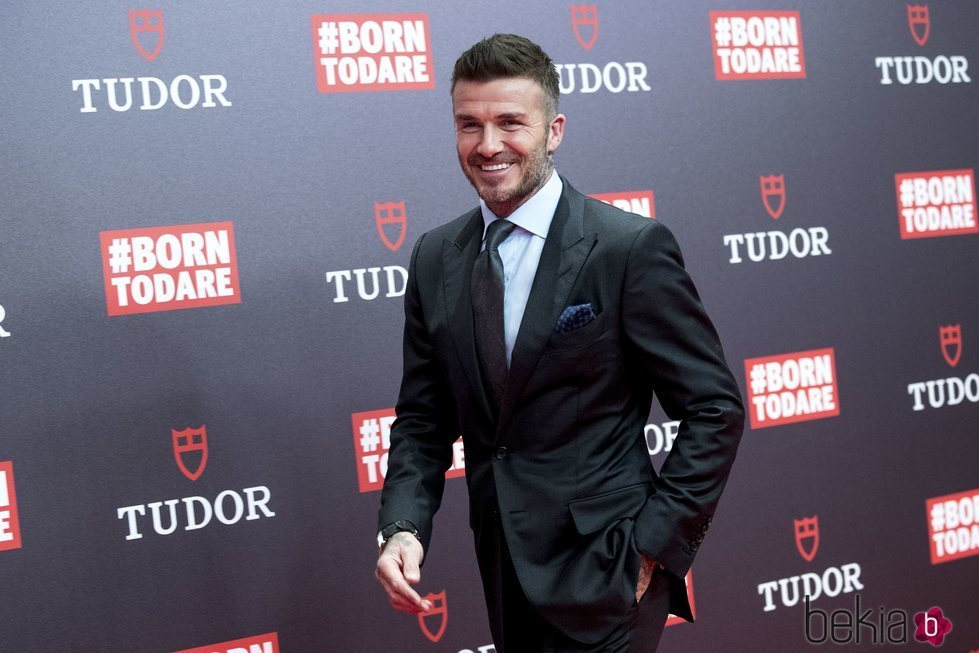 David Beckham en el evento de Tudor en Madrid
