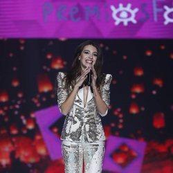 Ana Guerra durante una de sus actuaciones musicales