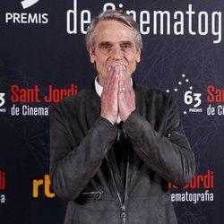 Jeremy Irons en el photocall de los Premios Sant Jordi 2019
