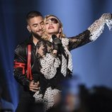 Maluma y Madonna actuando en los Billboard Music Awards 2019