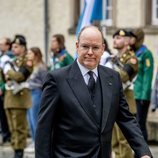 El Príncipe Alberto de Mónaco en el funeral del Gran Duque Juan de Luxemburgo