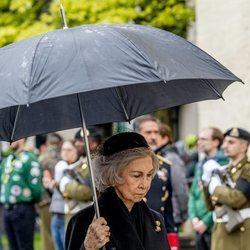 La Reina Sofía en el funeral del Gran Duque Juan de Luxemburgo