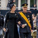 Matilde y Felipe de Bélgica en el funeral del Gran Duque Juan de Luxemburgo