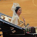 Victoria Federica de Marichalar saluda como madrina de la 34 Exhibición de Enganches el 5 de mayo de 2019