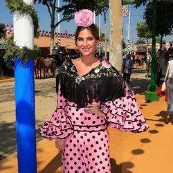 Lourdes Montes en la primera jornada de la Feria de Abril 2019