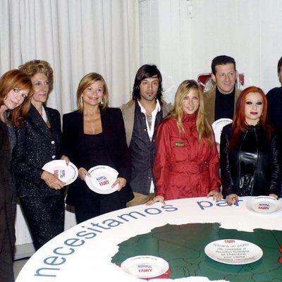 Belinda Washington, Pitita Ridruejo, Cari Lapique, Rafael Amargo, Elsa Pataky, Carlos García Hirschfeld, Alaska y Emilio Aragón