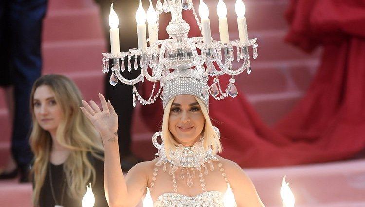Katy Perry en la alfombra roja de la Gala MET 2019