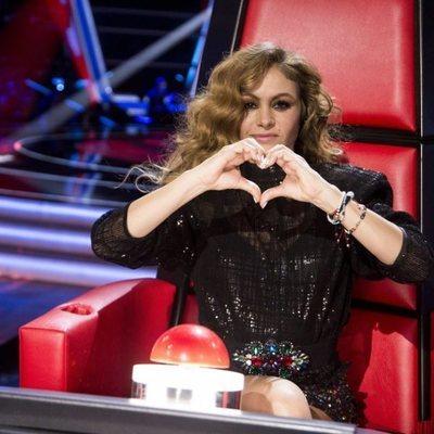 Paulina Rubio en la presentación de 'La Voz Senior'