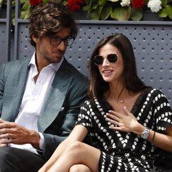Feliciano López y Sandra Gago en el Madrid Open 2019