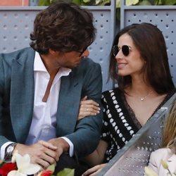 Feliciano López y Sandra Gago, compartiendo miradas en el Madrid Open 2019