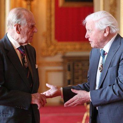 El Duque de Edimburgo y Sir David Attenborough