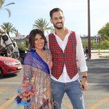 Chabelita Pantoja y Asraf Beno en la Maestranza de Sevilla durante la Feria de Abril 2019