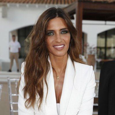 Sara Carbonero muy sonriente en su vuelta al trabajo tras el infarto de Iker Casillas
