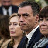 Pedro Sánchez en la capilla ardiente de Alfredo Pérez Rubalcaba en el Congreso de los Diputados en Madrid