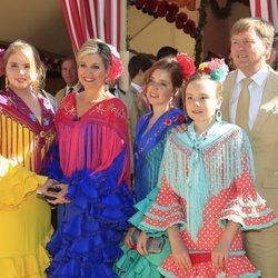 Los Reyes de Holanda y sus hijas en la Feria de Abril 2019