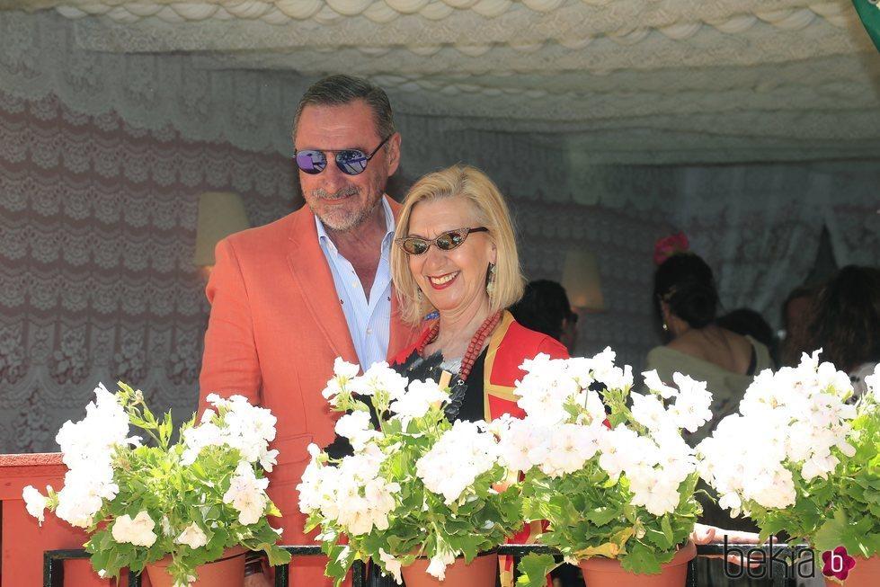 Carlos Herrera y Rosa Díez en la Feria de Abril 2019