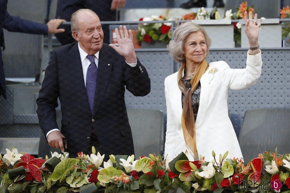 El Rey Juan Carlos y la Reina Sofía en el Mutua Madrid Open 2019