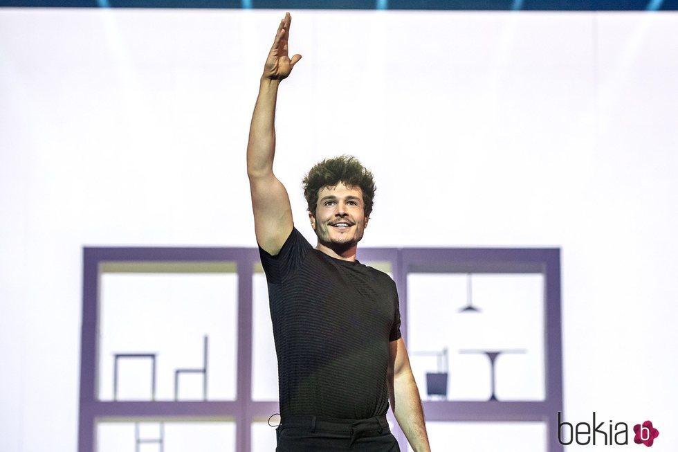 Miki Nuñez durante el segundo ensayo de Eurovisión 2019