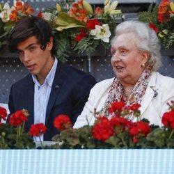 La Infanta Pilar en la final del Mutua Madrid Open 2019