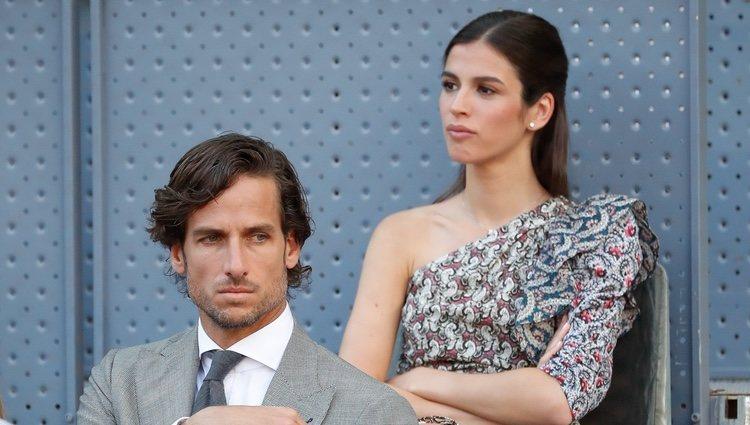Feliciano López y Sandra Gago se sientan separados en el Madrid Open 2019