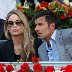 Luis Figo y Helen Svedin en el Madrid Open 2019