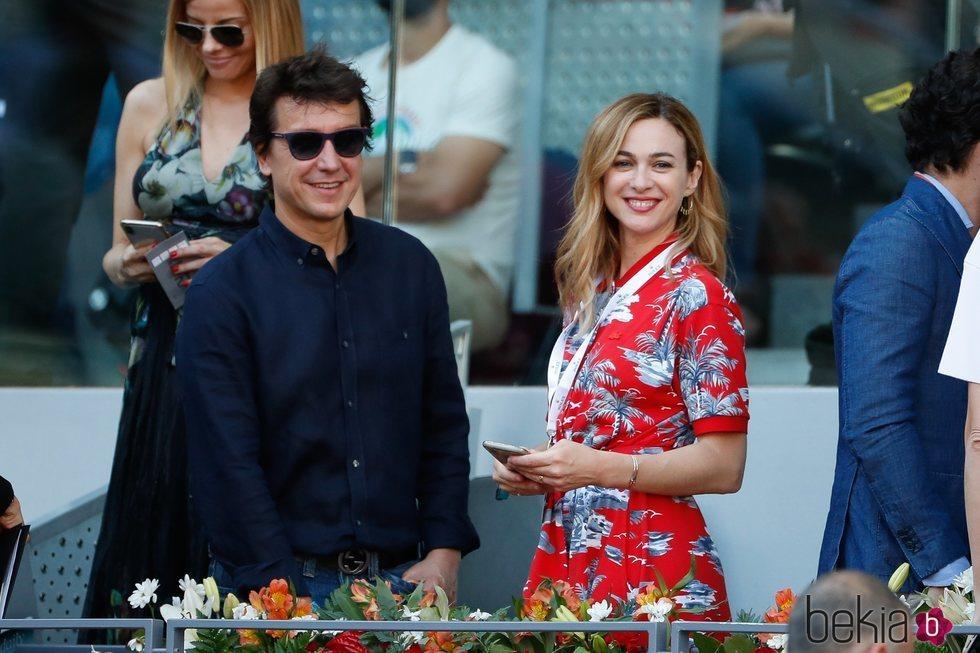 Marta Hazas y Javier Veiga en el Madrid Open 2019