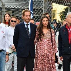 Andrea Casiraghi y Tatiana Santo Domingo en el Gran Premio de Mónaco de Fórmula E 2019
