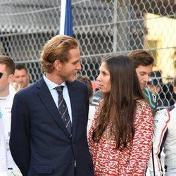 Andrea Casiraghi y Tatiana Santo Domingo, muy cómplices en el Gran Premio de Mónaco de Fórmula E 2019