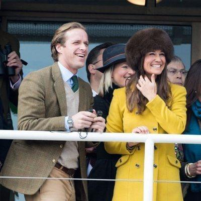 Pippa Middleton y Tom Kingston en las carreras de caballos de Gloucestershire