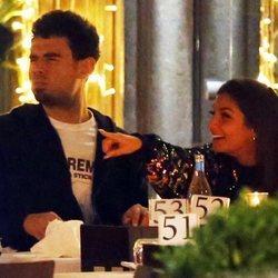 Elettra Lamborghini y el DJ Afrojack cenando en Milán