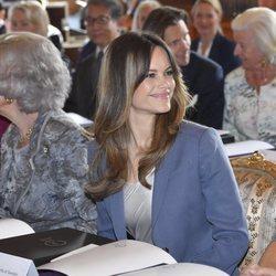 La Reina Sofía y Sofia Hellqvist en el 'Dementia Forum X'