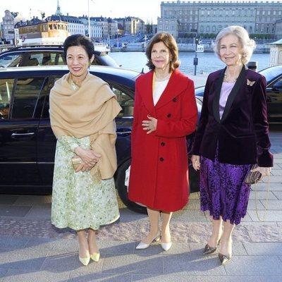 Hisako Takamado de Japón, Silvia de Suecia y la Reina Sofía en el 'Dementia Forum X'