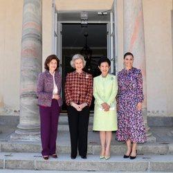 Silvia de Suecia, Hisako Takamado de Japón, la Reina Sofía y Victoria de Suecia en el Palacio de Haga