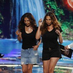 Encarna y Toñi Salazar abandonando el plató de 'Supervivientes 2019'