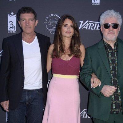 Antonio Banderas, Penélope Cruz y Pedro Almodóvar en el Festival de Cannes 2019