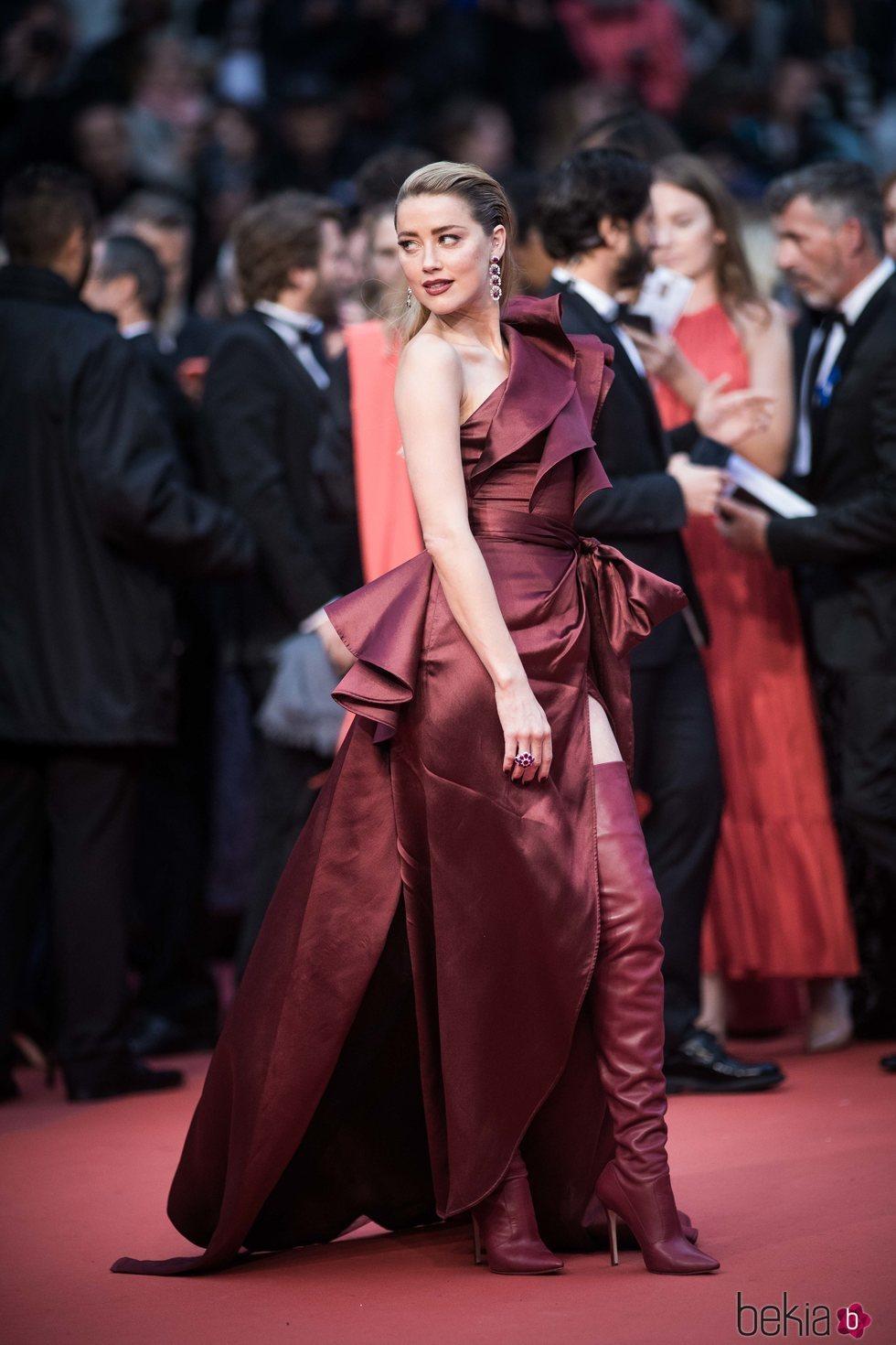 Amber Heard en la presentación de 'Dolor y Gloria' en Cannes