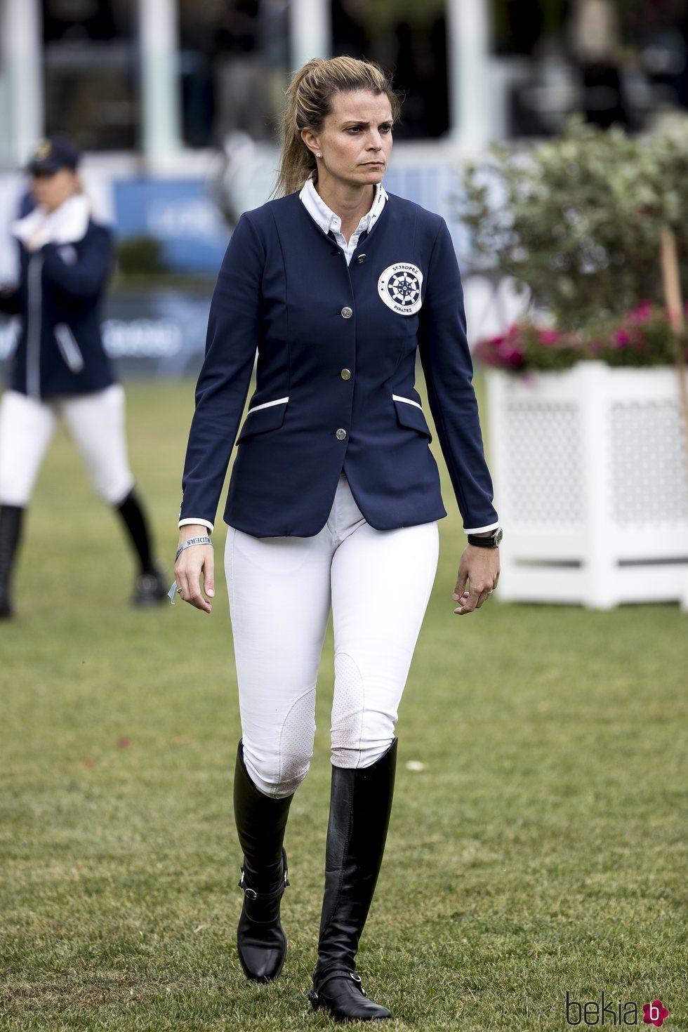 Athina Onassis en el Concurso de Saltos de Madrid d 2019