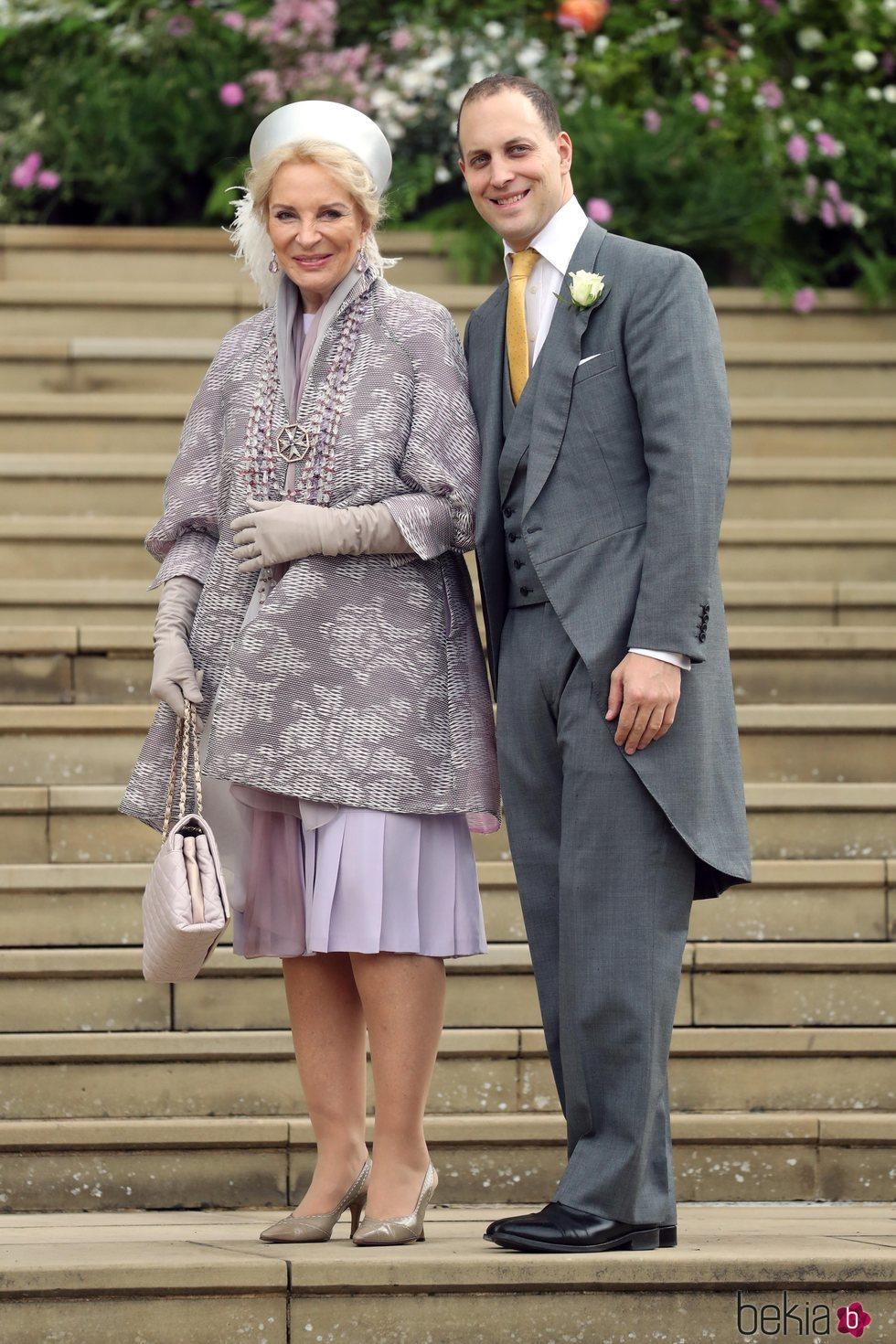 La Princesa Michael de Kent y Lord Frederick Windsor en la boda de Lady Gabriella Windsor y Thomas Kingston