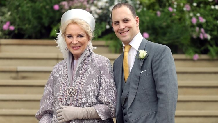 La Princesa Michael de Kent y Lord Frederick Windsor en la boda de Lady Gabriella Windsor y Thomas Kingston
