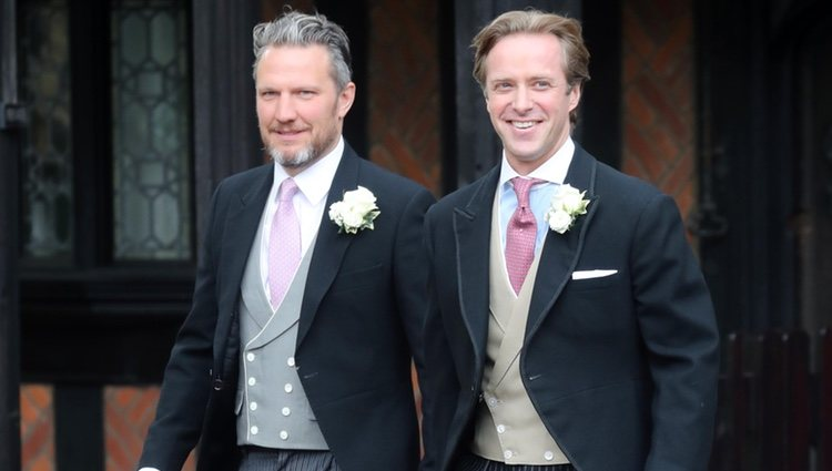 Thomas Kingston en su boda con Lady Gabriella Windsor
