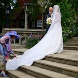 El vestido de novia de Lady Gabriella Windsor en su boda con Thomas Kingston