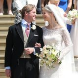 Lady Gabriella Windsor y Thomas Kingston en su boda