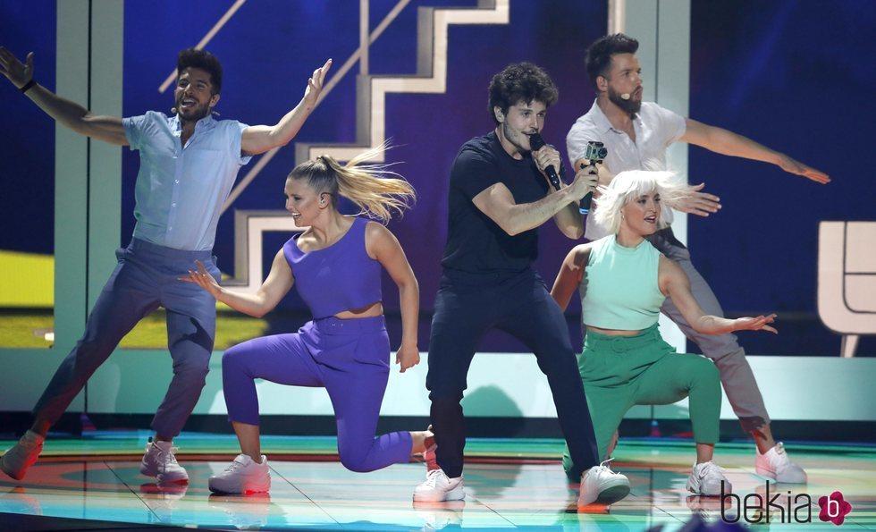 Miki Núñez dándolo todo en el Festival de Eurovisión 2019