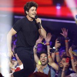Miki Núñez en su actuación en el Festival de Eurovisión 2019
