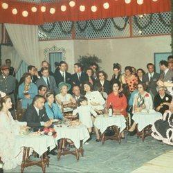 Rainiero de Mónaco, Grace Kelly y Jackie Kennedy en la Feria de Abril 1966