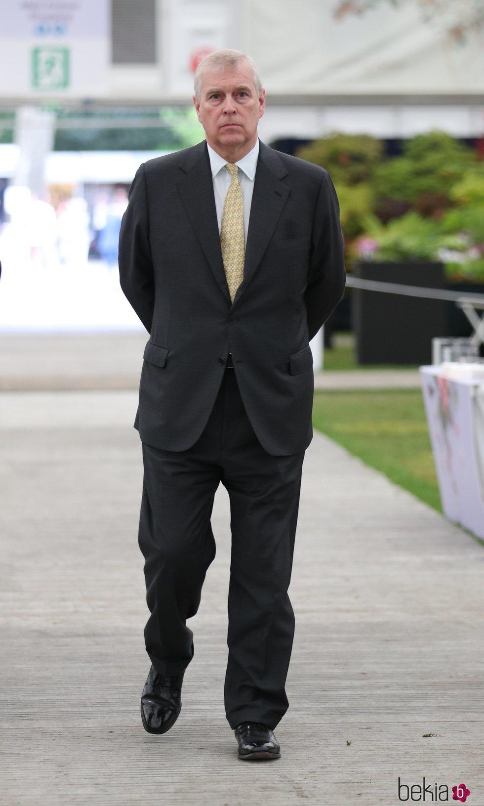 El Príncipe Andrés en Chelsea Flower Show 2019