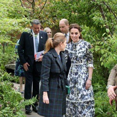 El Príncipe Guillermo y Kate Middleton con Beatriz de York en Chelsea Flower Show 2019