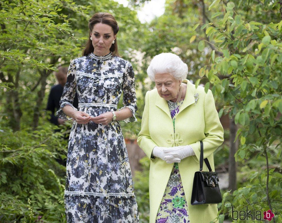 La Reina Isabel y Kate Middleton en Chelsea Flower Show 2019