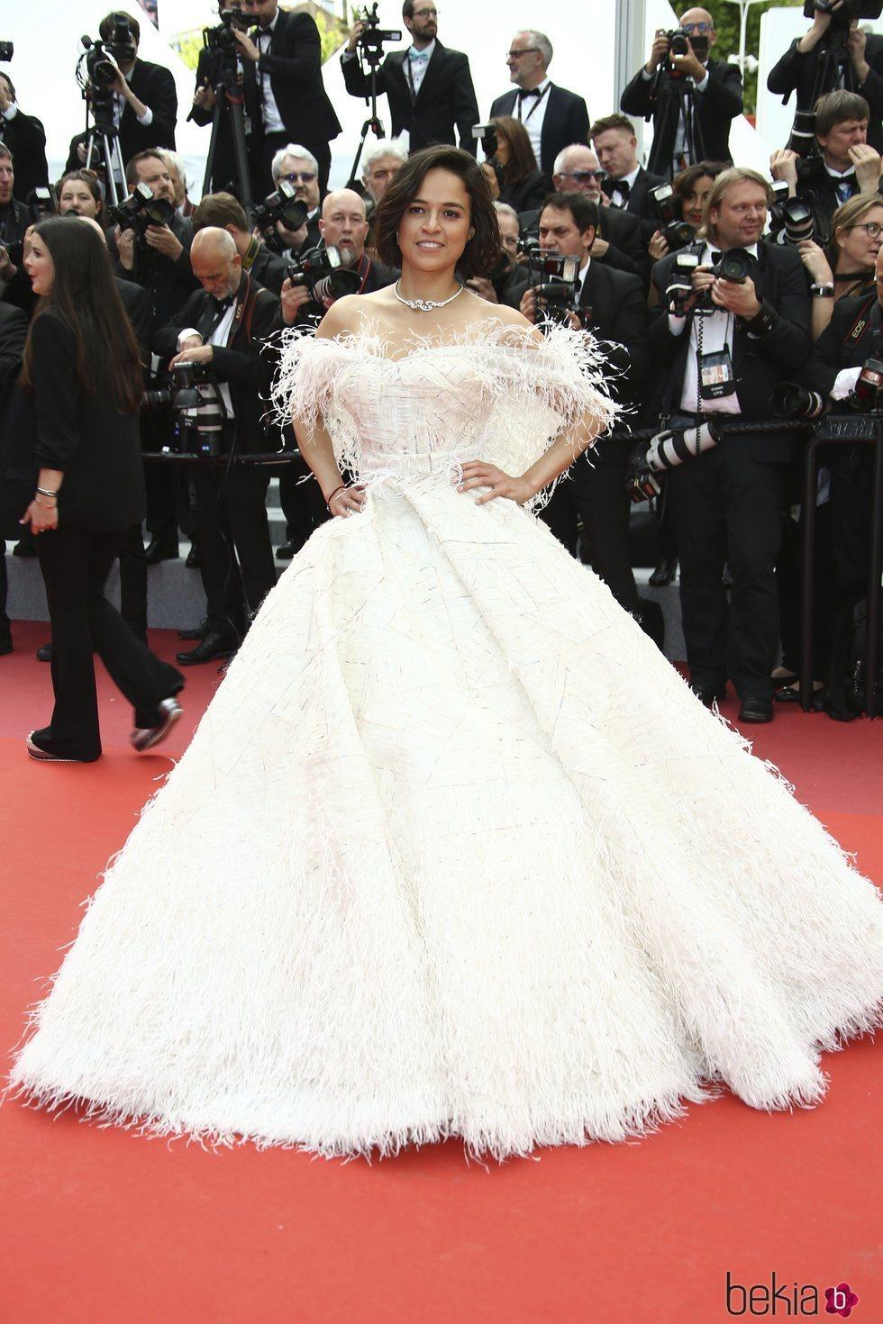 Michelle Rodriguez en la premiere de 'Once Upon a Time in Hollywood' en Cannes 2019